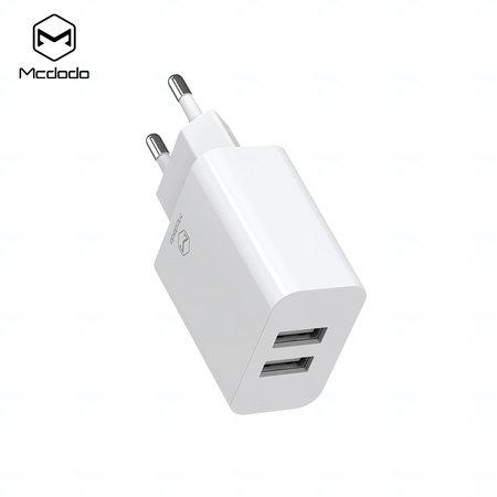 Mcdodo nabíječka 220V, 2x USB, 2.4A, USB C kabel, 1m, bílá