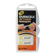 Baterie Duracell DA10, ZA10, 10A, DA230, PR70, PR536, V10A, R10ZA, 1,45V, blistr 6 ks