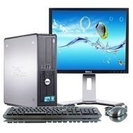 "PC sestava s 19"" LCD monitorem - Dell OptiPlex 780 SFF Intel DualCore 3,2 GHz / 2 GB RAM / 160 GB HDD / DVD / Windows 7 Professional"